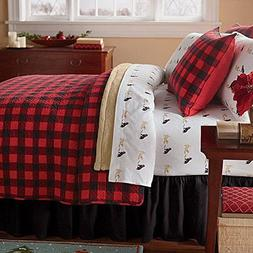 Greenland Home Fashions Queen Classic Buffalo Plaid Quilt Se