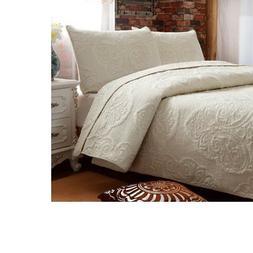 white beige vintage floral comforter set queen