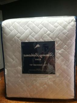 Tommy Bahama White Chevron Quilt Set, Full/Queen, White