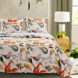 Barefoot Bungalow Willow Reversible Quilt & Pillow Sham Set,