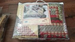 """AMERICAN HOMETEX """"WINTER COVE"""" QUEEN QUILT SET NEW WITHOUT T"""