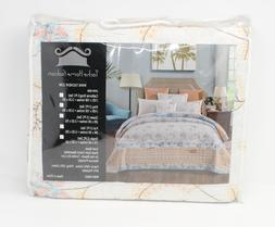 Tache Home Fashion Winter Frost Embroidered Floral Quilt Bed
