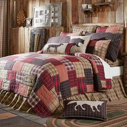 WYATT QUILT SET-choose size & accessories-Plaid Block Cabin