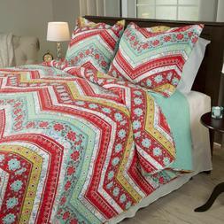 Bedford Home 3 Piece Zina Quilt Set, Full/Queen