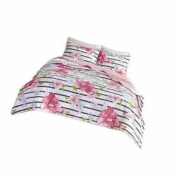 Comfort Spaces - Zoe Mini Quilt Set - 3 Piece - Pink - Adora