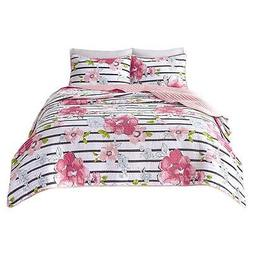 Comfort Spaces - Zoe Mini Quilt Set - 2 Piece - Pink - Adora
